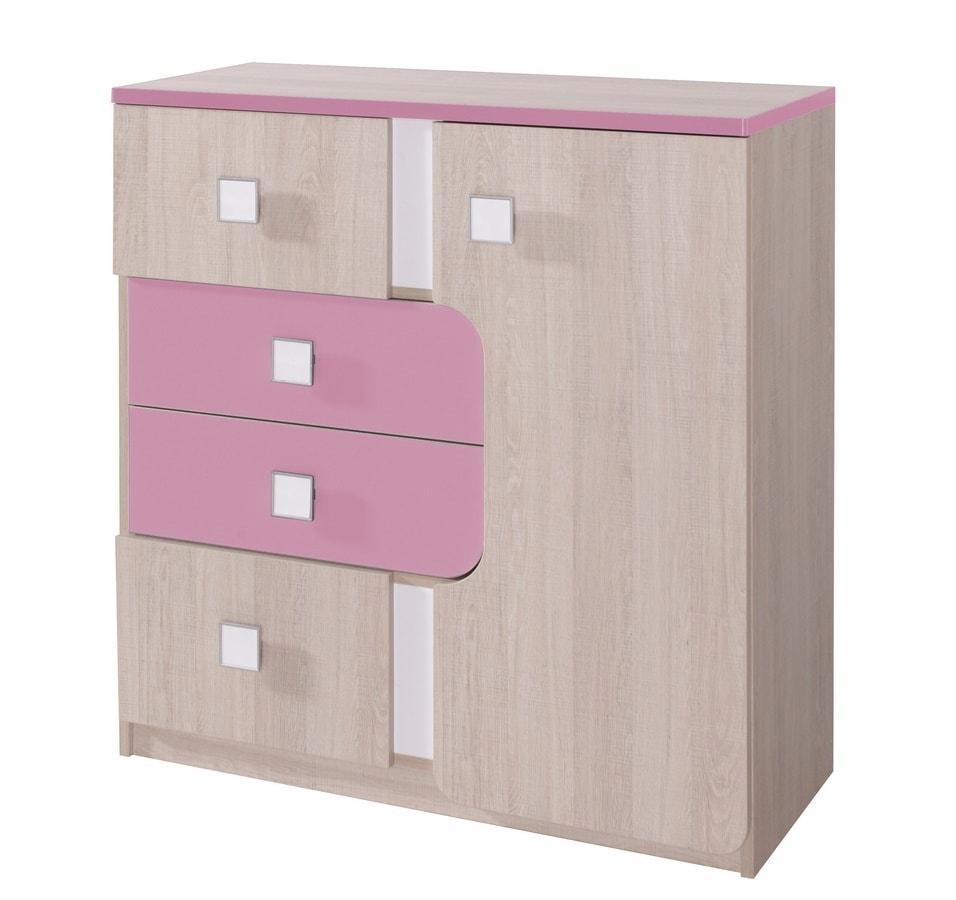 696cacea5583 DUO D5 kombinovaná komoda santana růžová - Maxi postele