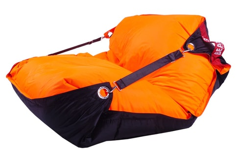 Sedací vak 189x140 duo fluo orange - black